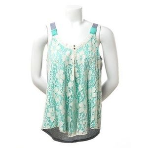 Jolt Lace Front Tank Top